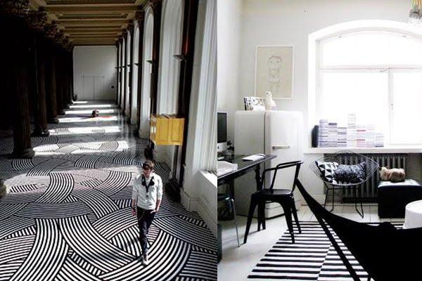 Interiors sp10 stripes pattern people for Stripe interior design
