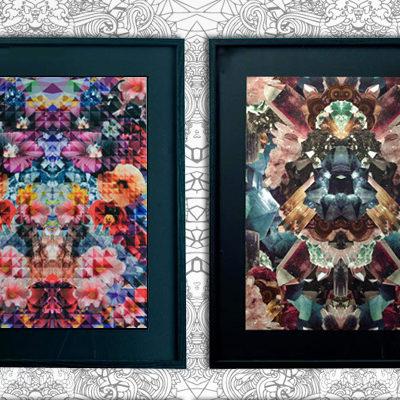 print & pattern, crystals, flowers, prints, pattern people art