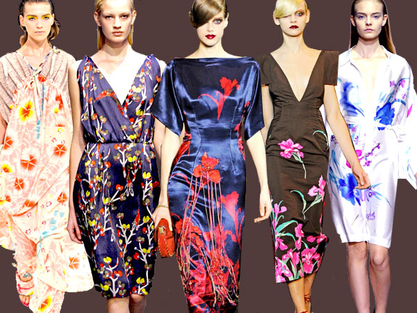Spring 11 Asian Florals, Marc Jacobs, United Bamboo, Louis Vuitton, Dries Van Noten, Kenzo, print trends