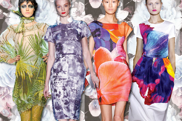 Spring 11, Runway, Trends, Jean Paul Gaultier, Isaac Mizrahi, Akris, Jil Sander, photographic florals