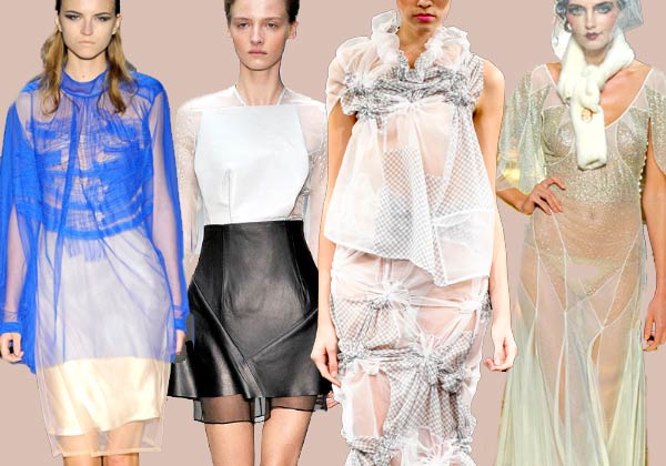 Spring 11 Trends: Sheer. Rue de Mail, Emilio de la Morenao, Tao, John Galiano