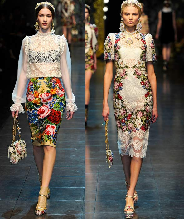 Runway Roundup Dolce Amp Gabbana Fall 12 Pattern People
