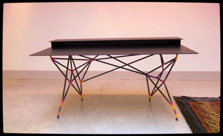 3D printed aluminium desk by Clemens Weisshaar and Reed Kram for Nilufar