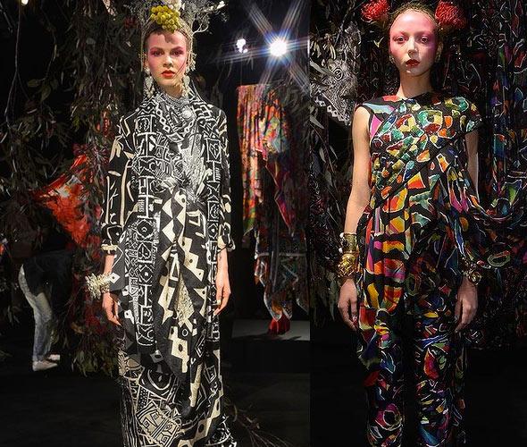 Sydney Fashion Week Jenny Kee Pattern People