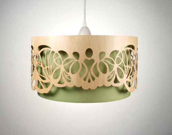 Interiors Laser Cut Lampshades Pattern People