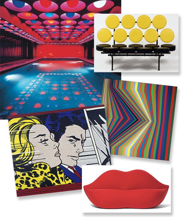 Interiors Pop Art Design Pattern People