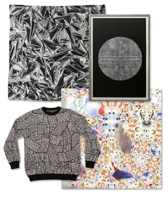 Anselm Reyle + LHHR scarf | Paul Lee | Richard Wright Print | Sibling + Jim Lambie jumper