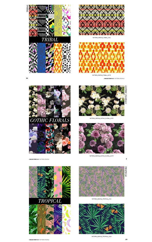 Stock Print Collection by Pattern People