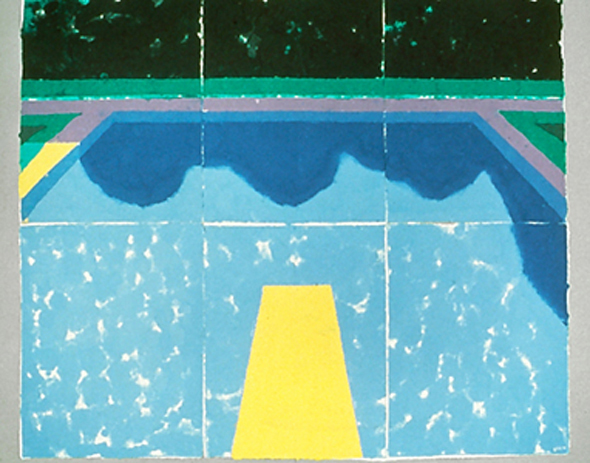 David Hockney | Pool with Reflection of Trees and Sky 1978