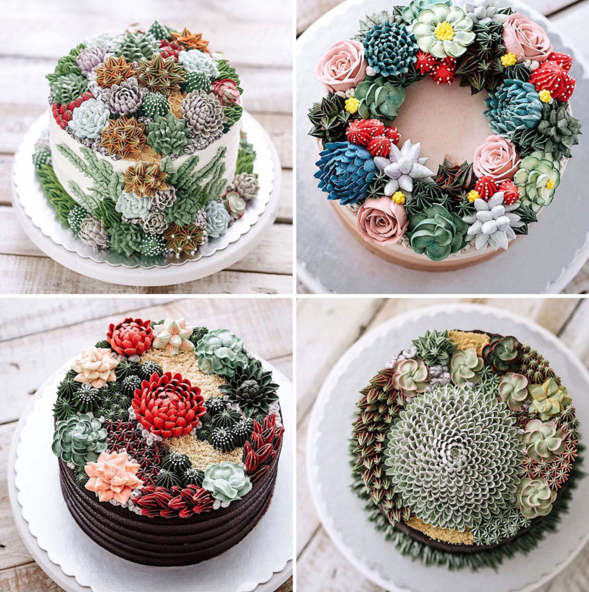 Edible Art Garden Cakes Pattern People